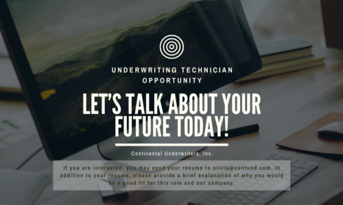 Continental Underwriters, Inc. is looking for a Production Technician!